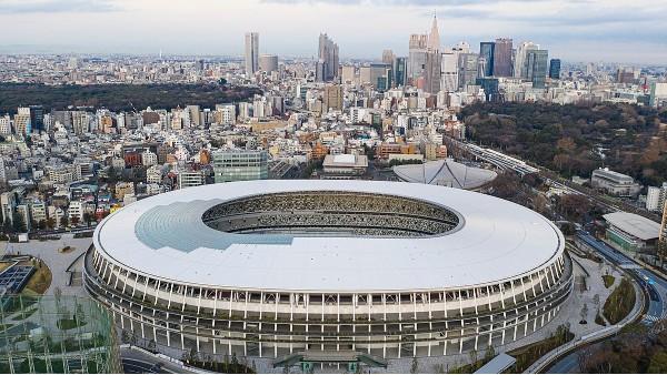 俯瞰东京奥运会新国立竞技场