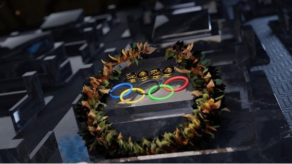 东京奥运会的木质五环
